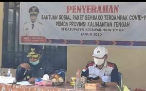 Plt Gubernur Kalteng Salurkan Bantuan Sosial Tahap 2 di Kotim
