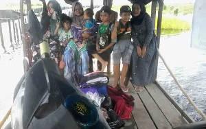 Jalan Menuju Desa Talingke Katingan Masih Terendam Banjir