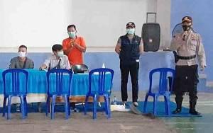 Polsek Dusun Tengah Kawal Penyaluran BST Kemensos Tahap 8