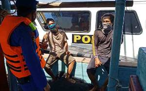 Ini Pesan Polisi saat Sambangi Nelayan di Perairan Kuala Pembuang