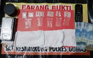 Polisi Tangkap Seorang Laki-laki, 17 Paket Sabu Diamankan