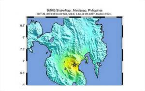 Gempa Bermagnitudo 6,1 Mengguncang Filipina