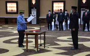 Sekda Kalteng Dilantik Sebagai Ketua Komite Advokasi Daerah Anti Korupsi Provinsi Kalimantan Tengah
