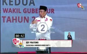Edy Pratowo Tetap Gagah Meski Sendiri Berdebat dengan Paslon 1