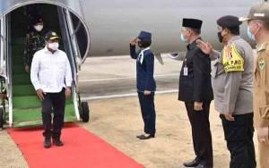 Sekda Kalteng Sambut Kedatangan Wakil Menteri Pertahanan yang akan Lihat Lahan Singkong