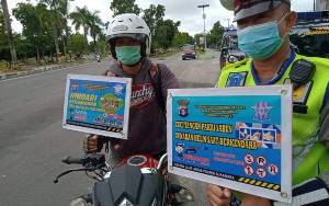 Satlantas Polres Sukamara Gencar Sosialisasikan Protokol Kesehatan