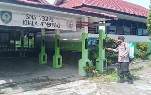 Polsek Seruyan Hilir Lakukan Sterilisasi di SMA Negeri 1 Kuala Pembuang