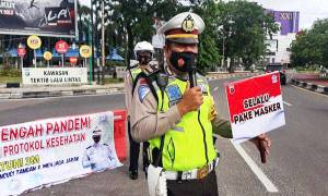 Ditlantas Polda Kalteng Ajak Masyarakat Terapkan 3M
