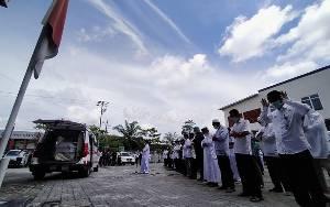 Almarhum dr Yudha Disalatkan di RSUD dr Murjani dan Masjid Darul Ma'rifah