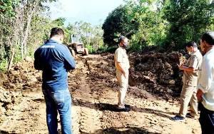 Kerusakan Jalan Km 34 Simpang Tamrin Barito Utara Mulai Ditangani