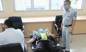 Jasa Raharja Kalteng Kumpulkan Puluhan Kantong Darah Demi Kemanusiaan