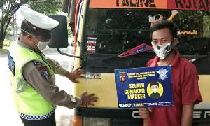 Satlantas Polres Kapuas Ingatkan Protokol Kesehatan ke Pengendara