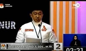 Tampil Sendiri, Edy Pratowo Sampaikan Visi dan Misi Terkait Kepemimpinan dan Pelayanan