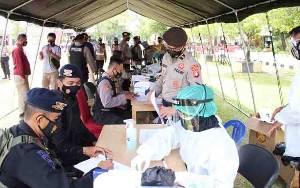 Ratusan Personel Polda Kalteng BKO Polres Jalani Rapid Test