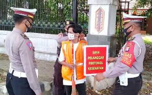 Puluhan Pelanggar Terjaring Operasi Yustisi Covid-19 di Barito Timur