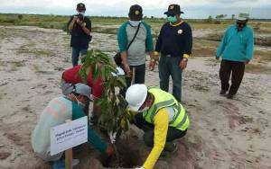 Hari Bhakti PU ke 75, 1.000 Pohon Ditanam di Embung Tempenek