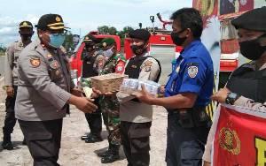 Kabagops Sambangi Pos Pengamanan Operasi Lilin di Seruyan Raya
