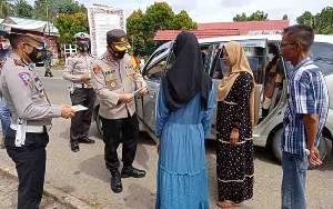 Kapolres Barito Timur Pimpin Operasi Yustisi Covid-19 dan 45 Pelanggar Terjaring