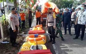 Polres Barito Selatan Apel Pasukan Kesiapsiagaan Penanggulangan dan Mitigasi Bencana Alam