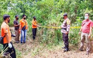 Polisi Olah TKP Penemuan Mayat di Tangkiling, Ini Dugaan Penyebab Kematiannya