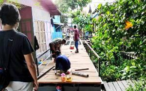 Perbaikan Jembatan di Jalan Keladan RT 06 Hampir Rampung