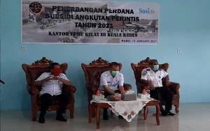 Ketua DPRD Gunung Mas Hadiri Penerbangan Perdana Bersubsidi Kuala Kurun-Banjarmasin