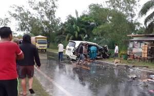 Sopir Inova Angkut Miras Terlibat Kecelakaan di Palangka Raya Belum Diketahui
