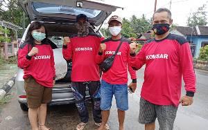 Relawan Komsar dan Samuja Barito Timur Bantu Bencana Banjir di Barabai