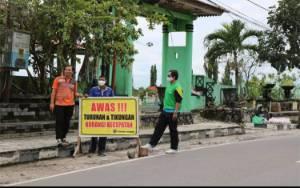 Sering Terjadi Kecelakan Tunggal, Dishub Kobar Pasang Rambu Peringatan di Jalan Diponegoro
