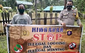 Polisi Sosialisasi Larangan Illegal Logging di Kecamatan TSG dan Pulau Malan Katingan