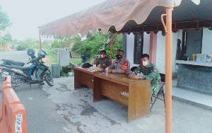 Personel Gabungan Lakukan Penjagaan Mess Desa di Lamandau