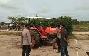 Bhabinkamtibmas Sambangi dan Patroli Objek Vital di Lokasi Food Estate Kapuas