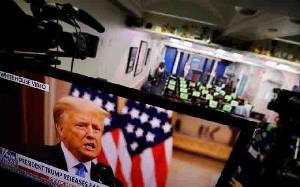 Pidato Perpisahan Donald Trump Tidak Sekalipun Sebut Nama Joe Biden