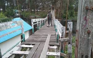 Kondisi Jembatan Gantung Memprihatinkan, Ini Harapan Ketua DPRD Seruyan