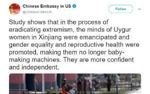 Twitter Kunci Akun Kedubes Cina di AS karena Twit soal Uighur