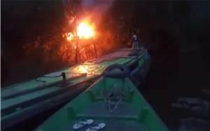 Video Amatir Kebakaran Pondok Satu Orang Tewas Terpanggang