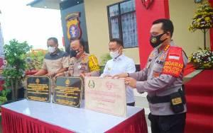 Kapolda Kalteng Resmikan Kantor Polsek Jekan Raya