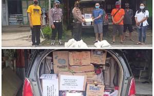 Polsek GBA Bersama Karang Taruna Kirim Bantuan Korban Banjir Kalsel