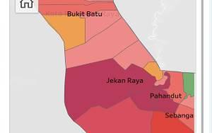 15 Kelurahan di Palangka Raya Masih Zona Merah Covid-19