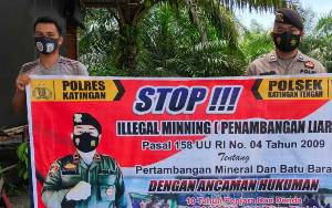 Polsek Katingan Tengah Intensifkan Sosialisasi Pencegahan Illegal Mining