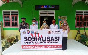 Kapolsubsektor Sematu Jaya Sosialisasikan Saber Pungli di Desa Tri Tunggal