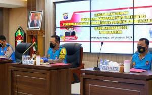 Polda Kalteng Tandatangani Pakta Integritas dan Penerimaan Siswa Inspektur Polisi