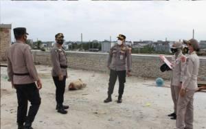 Kepala Rumah Sakit Bhayangkara Palangka Raya Cek Kemajuan Pembangunan Paviliun Dhira Jaya