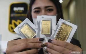 "Emas Turun Lagi 4,3 Dolar, Pelemahan ""Greenback"" Batasi Kerugian"