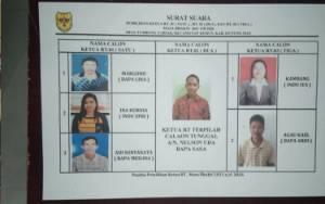 Nomor Urut Calon Ketua RT di Tumbang Tariak Telah Ditetapkan