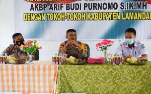 Wakapolres Lakukan Silaturahmi Kamtibmas dengan Para Tokoh di Lamandau