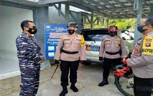 Kapolres Seruyan Sambangi Pos TNI AL Kuala Pembuang