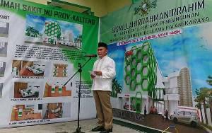 Ini Harapan Gubernur Kalteng saat Peletakan Batu Pertama RS Nahdlatul Ulama