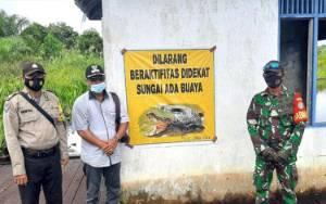 Geger Buaya, Polisi Pasang Spanduk Larangan Aktivitas di Sungai di Pulang Pisau