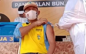 Jumlah Nakes yang Telah Mendapatkan Vaksinasi di Kobar Melebihi Target Sasaran Awal